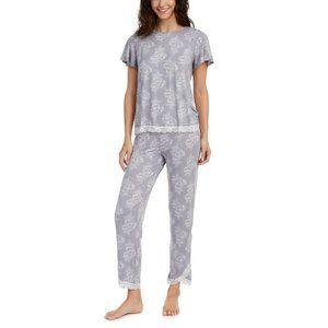 NWT! Charter Club Lace-Trim Top & Capri Pajama Set